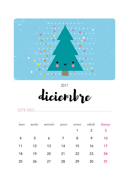 Dibu calendario imprimible gratis para diciembre
