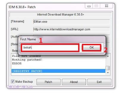 2 Cara Menghilangkan Pesan Registrasi Dan Fake Serial Number IDM Terbaru 2018