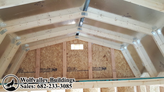 Wolfvalley Buildings Storage Shed Blog Lofted Barn 10x16