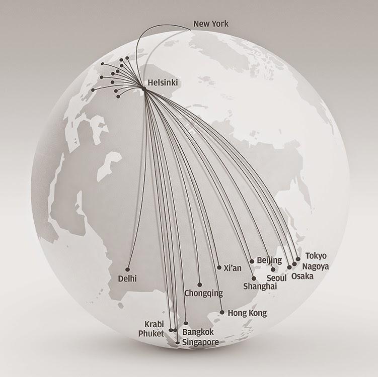 Finnair Reitit
