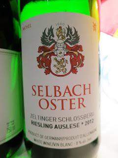 Selbach Oster Zeltinger Schlossberg Riesling Auslese * 2012 (92 pts)