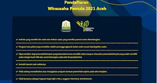 Persyaratan Bantuan Modal UMKM Aceh tahun 2021
