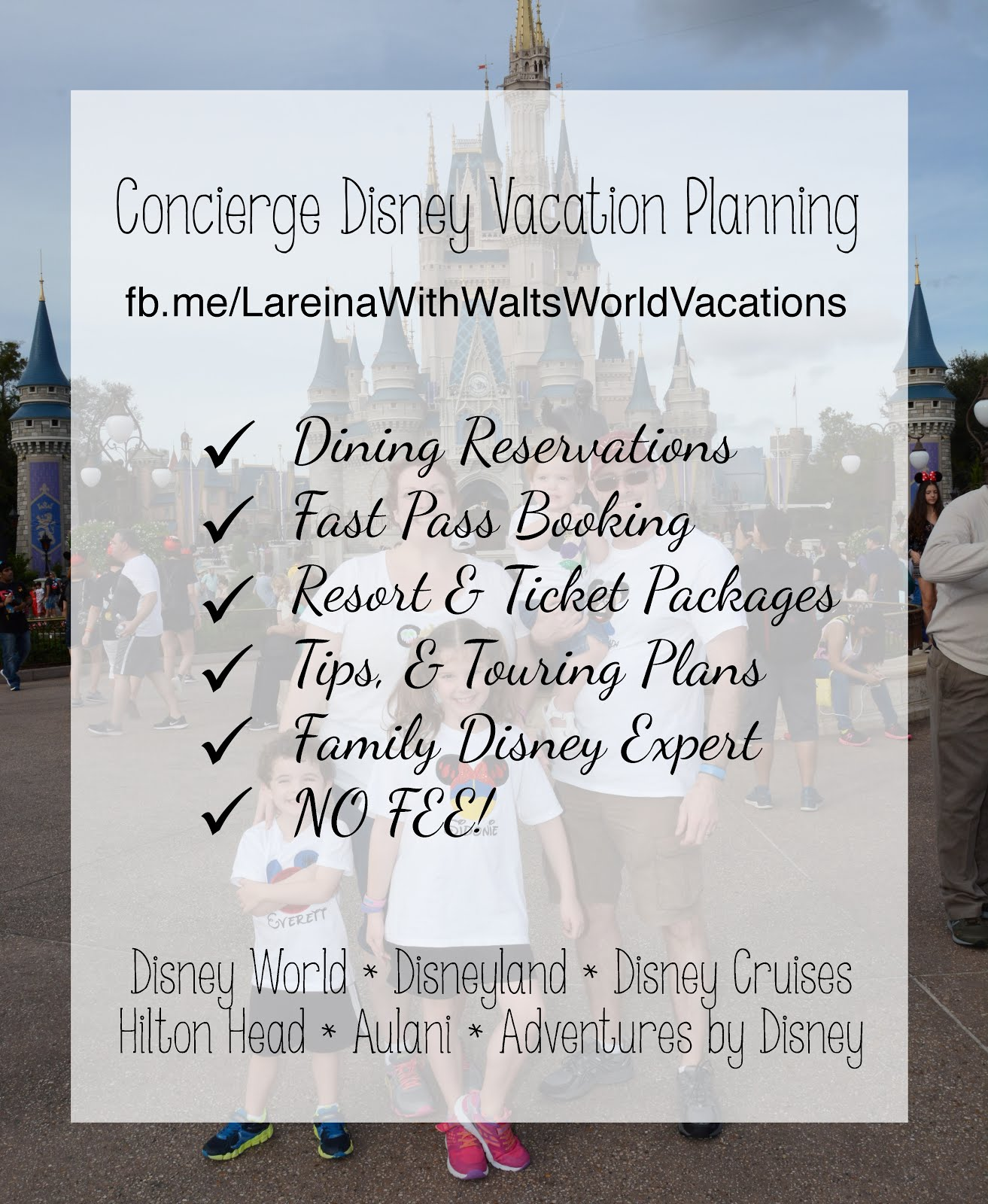 No FEE Disney Planning!