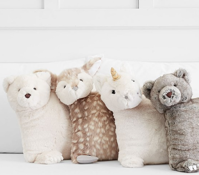 faux fur decorative pillows Mommy Cusses Pottery Barn Kids 2017