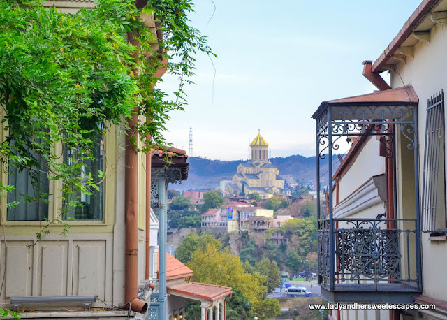 balcony in old tbilisi georgia