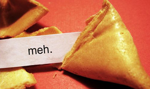 fortune cookie - meh
