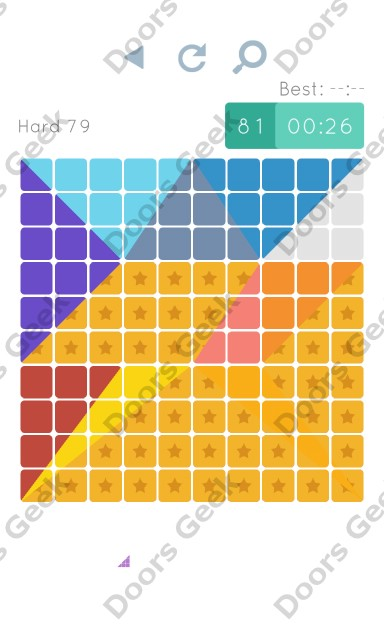 Cheats, Walkthrough for Blocks and Shapes Hard Level 79