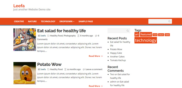 Leefa Responsive Wordpress Themes