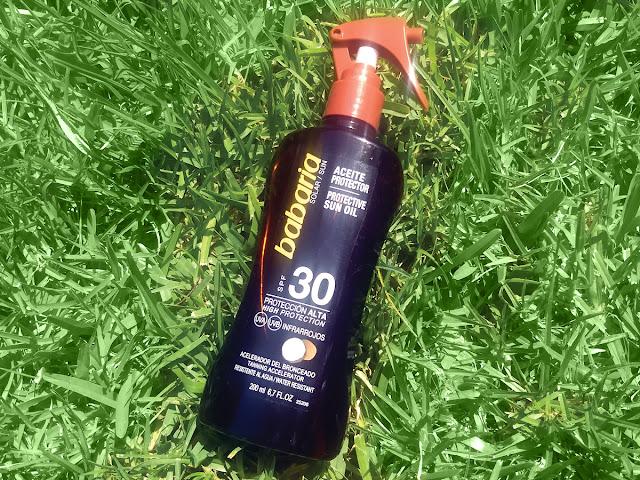 Aceite Protector Solar de coco SPF-30 de Babaria