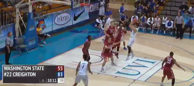 Creighton's Kobe Paras scores his first US NCAA basket! (VIDEO)