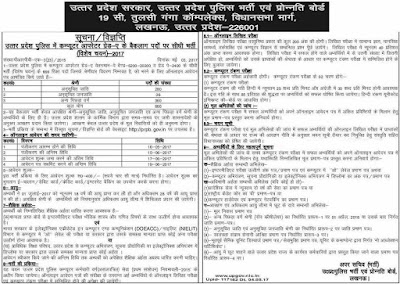 Up Police PRPB 666 Computer Operator Recruitment 2017 prpb.gov.in Apply Now