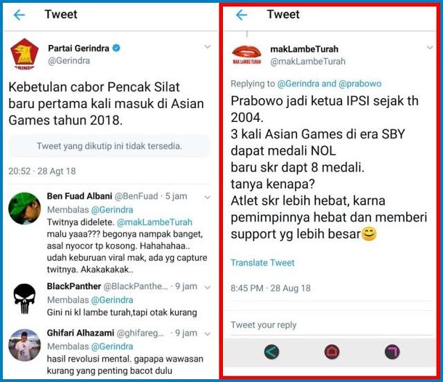 Nyinyirin Prabowo, Lambe Turah Malah Malu Sendiri, Lalu Hapus Twit & Gembok Akun