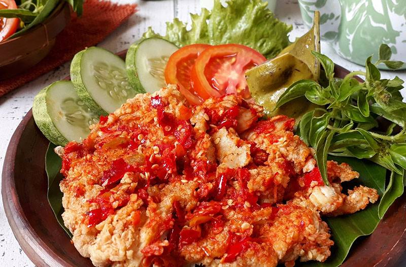 Resep Ayam Geprek Sambal Bawang, Pasti Enak
