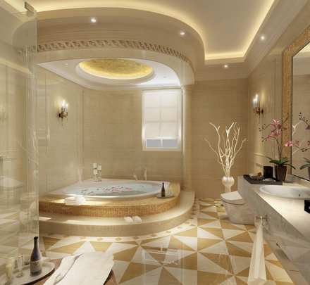 Blending the colors of beige and gold that produce luxury.