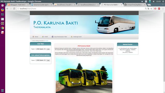 Tutorial PHP : Source Code Aplikasi Pemesanan Tiket Bus Online  - Gratis