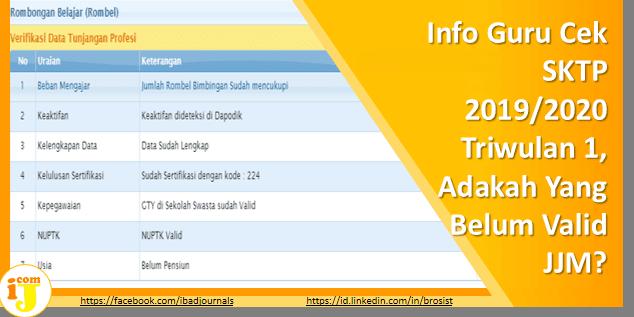 Info Guru Cek SKTP 2019/2020 Triwulan 1, Adakah Yang Belum Valid JJM?