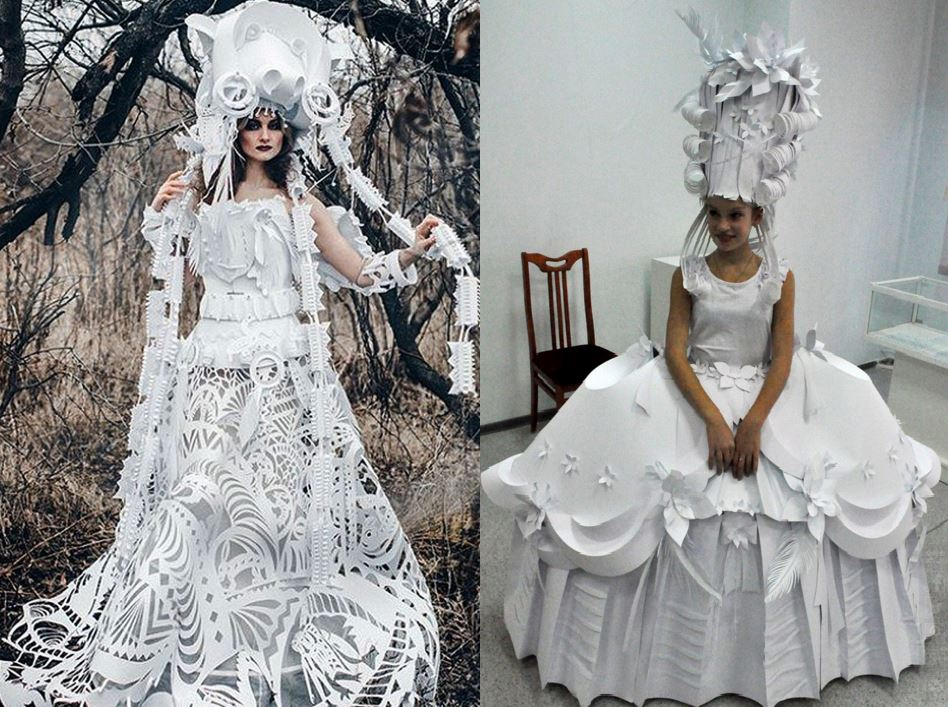 Crazy Fashion Sense Russian Designer Crafts Amazing Wedding Dresses