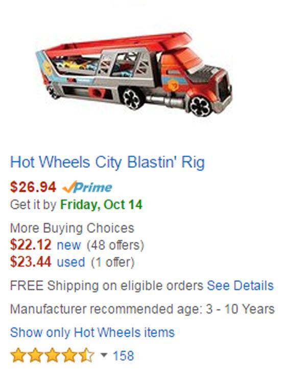 Hot Wheels City Blastin' Rig