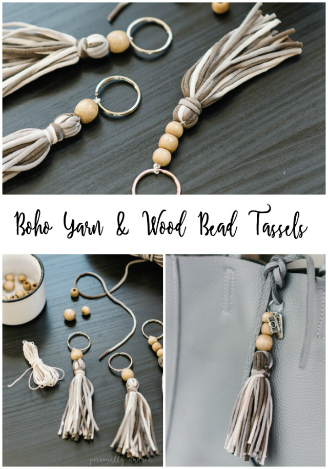 Boho Yarn and Wood Bead Tassel | personallyandrea.com #craft #bohochic #accessory