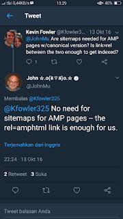 Apakah Perlu mengirimkan Sitemap untuk Blog AMP