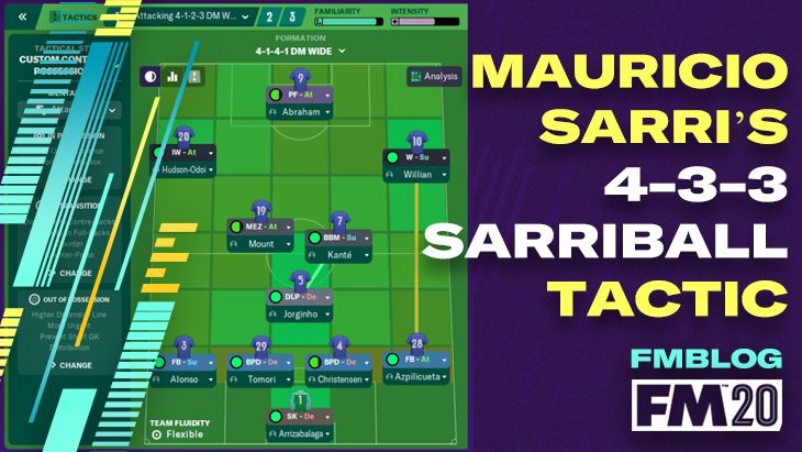 FM20 - Mauricio Sarri's 4-3-3 Sarriball Tactic