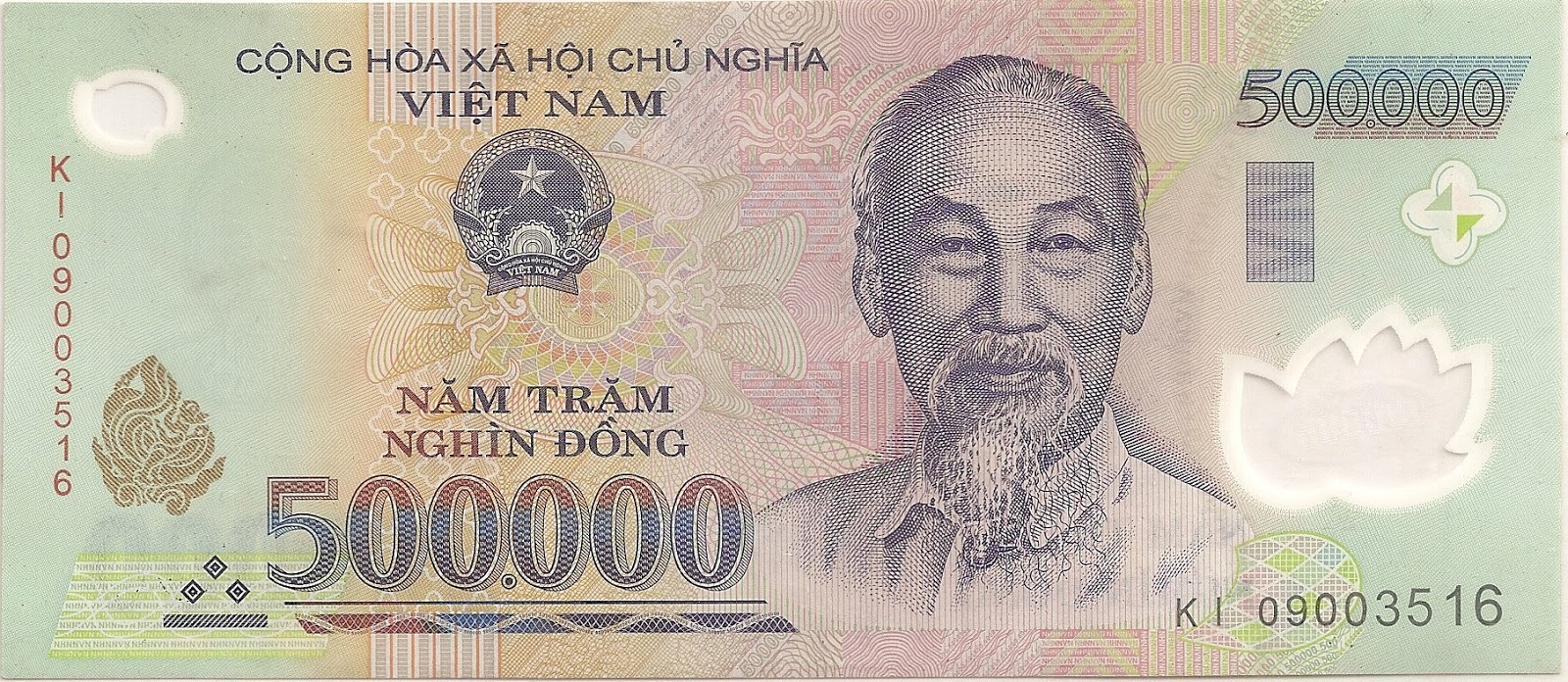 The Front Of 500000 Dong Banknote It Is Also Referred To As Nam Tram Nghin
