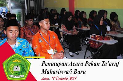Ketua STIT Multazam Lampung Barat Tutup Pekan Ta'aruf Mahasiswa Baru