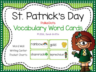 https://www.teacherspayteachers.com/Product/St-Patricks-Day-Vocabulary-Cards-1081747