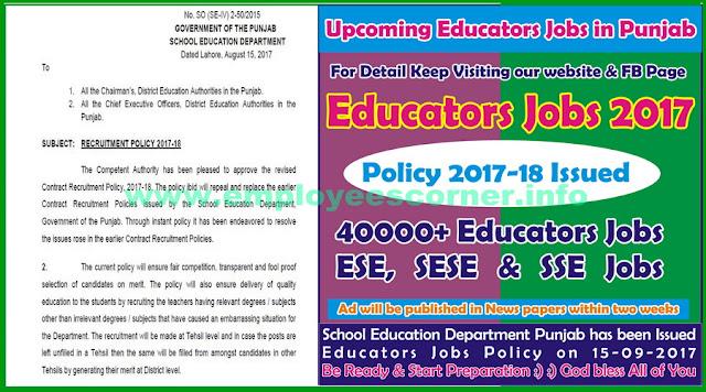 NTS Educators Jobs 2017-18