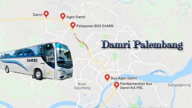 Damri Palembang : Harga Tiket, Rute & Jadwal Keberangkatan