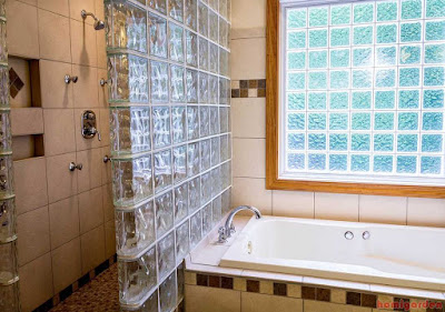 Consider Installing A Glass Block Shower