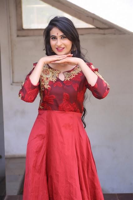 Priya Choudhary Picture In Red Long Dress