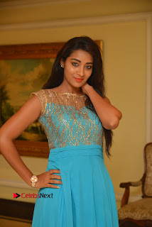 Actress Bhanu Sri Pictures in Blue Long Dress at Apartment Movie Audio Launch  0009.JPG