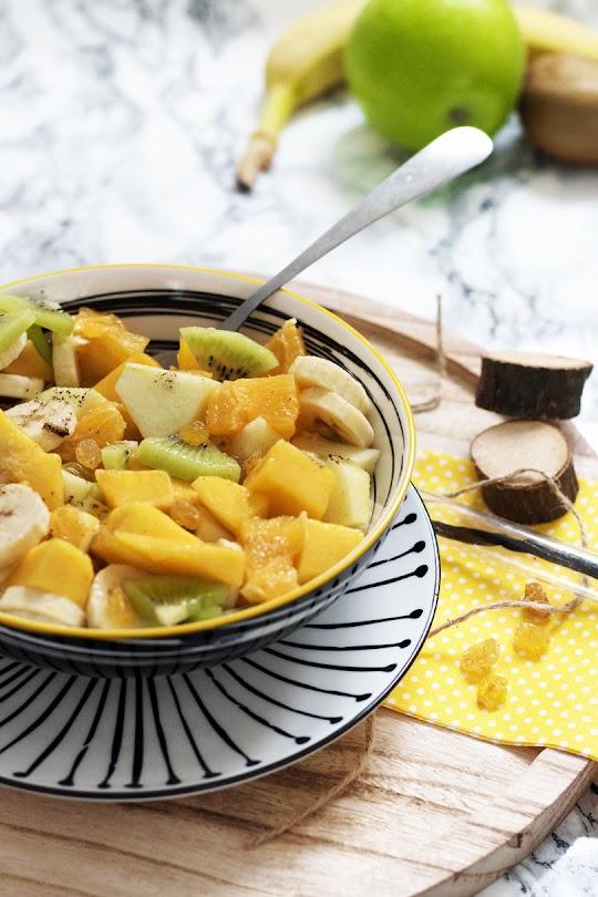 recette Salade de fruits à l'huile et la vanille