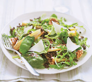 parsnip, lentil and walnut salad recipe