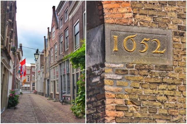 Callecitas – Pasaje con inscripción Anno 1652 en Dordrecht