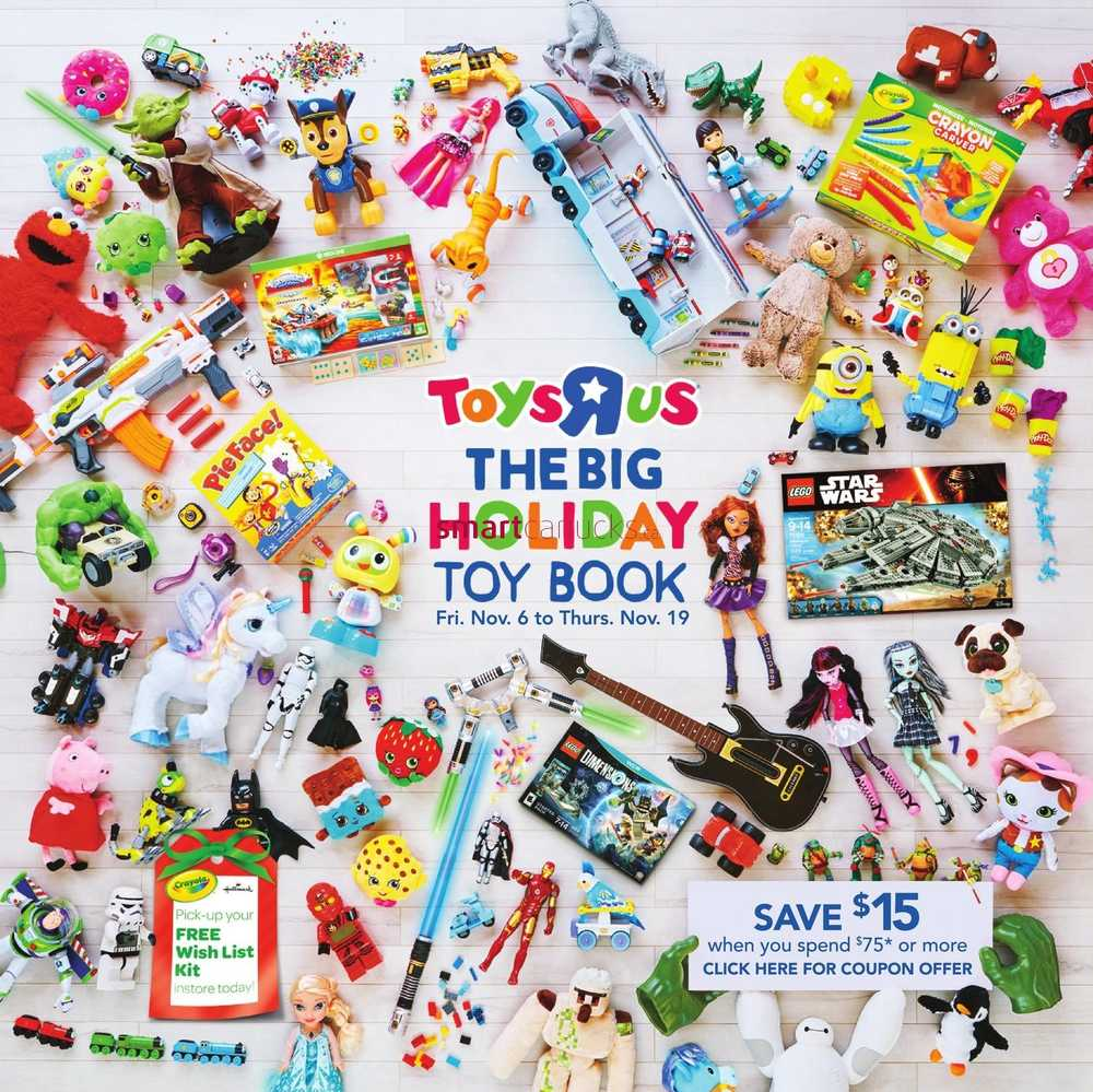 Visit the Toys R Us website to request a FREE Toys R Us Christmas Toy Catalog mailed to your house! Simply scroll down and click the green button on the right.