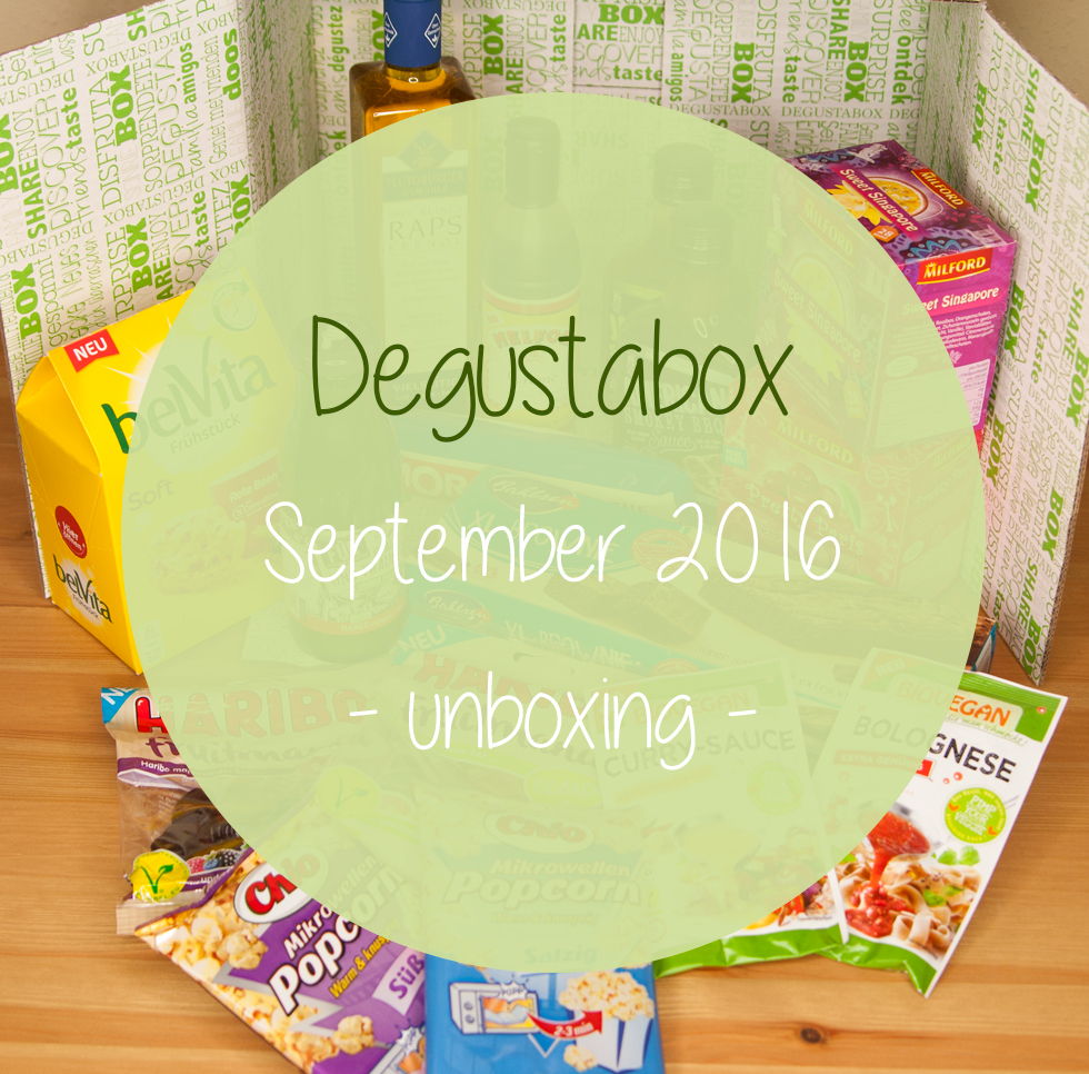 Degustabox - September 2016 - unboxing