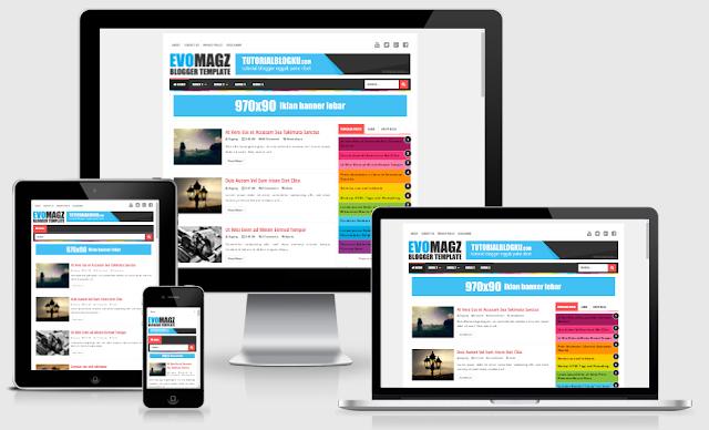 Evo Magz Full Responsive Blogger Template v4.7 Terbaru