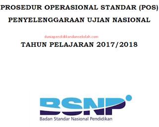 Download Prosedur Operasional Standar (POS) Penyelenggaraan UN BSNP Tahun Ajaran 2017-2018