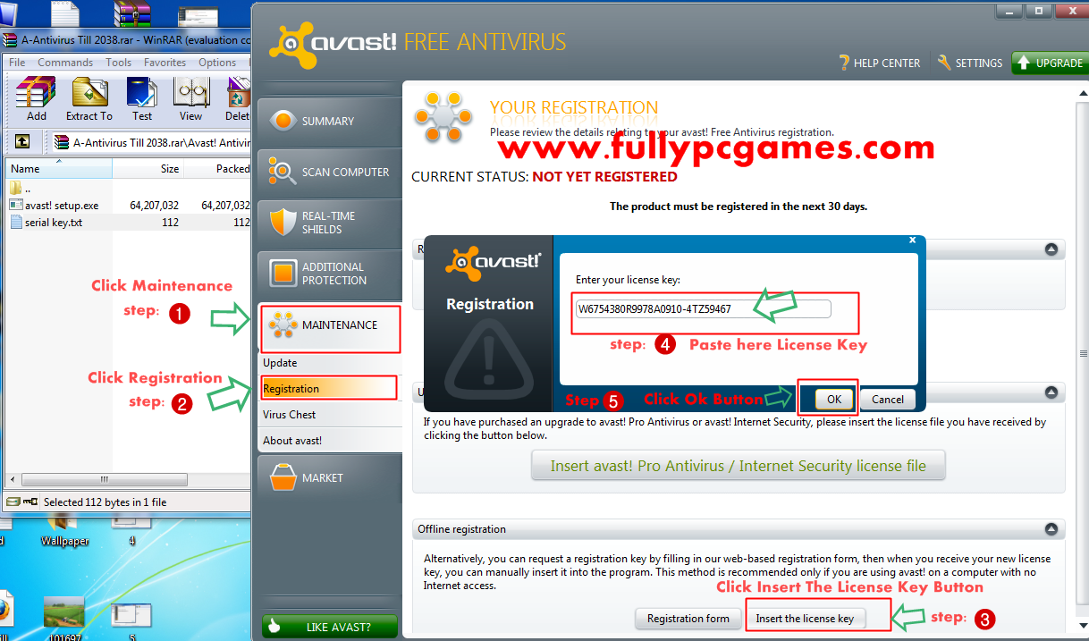 how to reregister avast