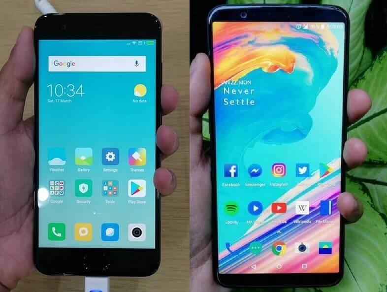 Xiaomi Mi 6 versus OnePlus 5T