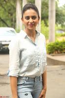 Rakul Preet Singh in Jeans and White Shirt At Jaya Janaki Nayaka le Logo Launch ~  Exclusive 028.JPG