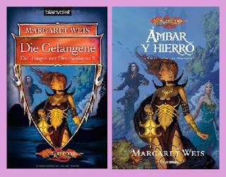portadas del libro Ámbar y hierro, de Margaret Weiss