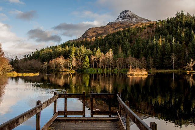 Photo of the Pap of Glencoe across Glencoe Lochan