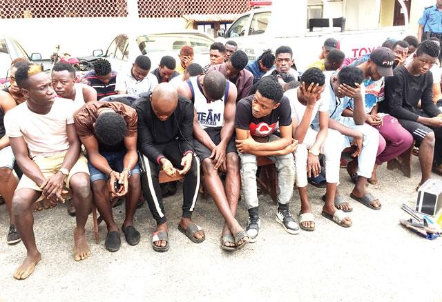 Faces Of 57 Homos*xuals Nabbed In Lagos;