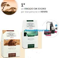Logo Caffè Corsini: vinci gratis 60 kit di caffè, macchina espresso e viaggio in Kenya