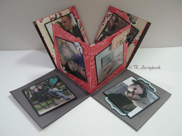 caixa explosion scrapbook