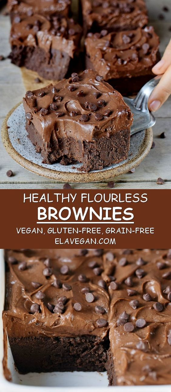 FLUORLESS BROWNIES
