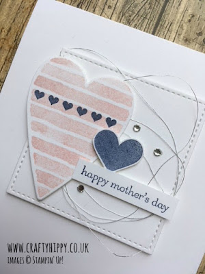 Make a Mother's Day card using Heart Happiness by Stampin' Up! - perfect for all heart themed cards.
